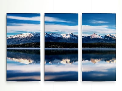 Loon Peak 'Pyramid Lake' Photographic Print Multi-Piece Image on Wrapped Canvas; 40'' H x 60'' W