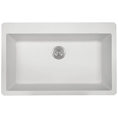 MRDirect TruGranite 33'' x 21'' Topmount Kitchen Sink; White