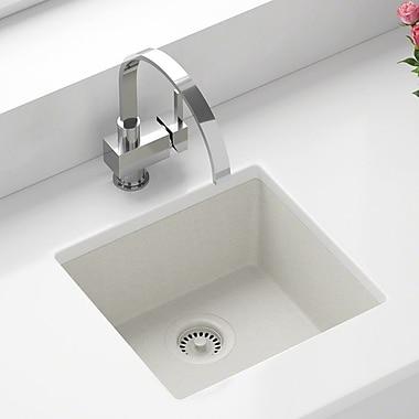 MRDirect TruGranite 18'' x 8'' Undermount Kitchen Sink; White