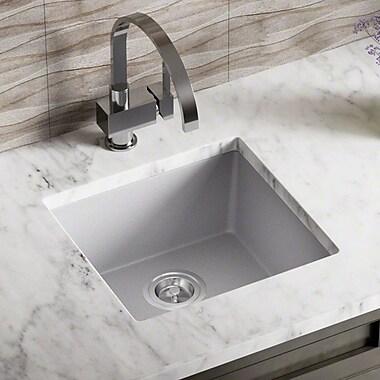 MRDirect TruGranite 18'' x 8'' Undermount Kitchen Sink; Silver