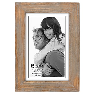 Loon Peak Alday Driftwood Linear Picture Frame; 4'' x 6''