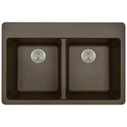 MRDirect TruGranite 33'' x 22'' Double Basin Topmount Kitchen Sink; Mocha