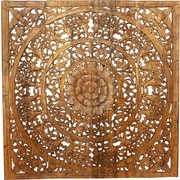 Bungalow Rose Wall Panel in Reclaimed Teak Wood Wall D cor; Natural Wax