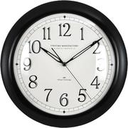 Red Barrel Studio Charlyn 11'' Slim Wall Clock; Black