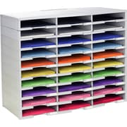 Rebrilliant 30 Compartment Literature Organizer; Gray