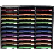 Rebrilliant 30 Compartment Literature Organizer; Black