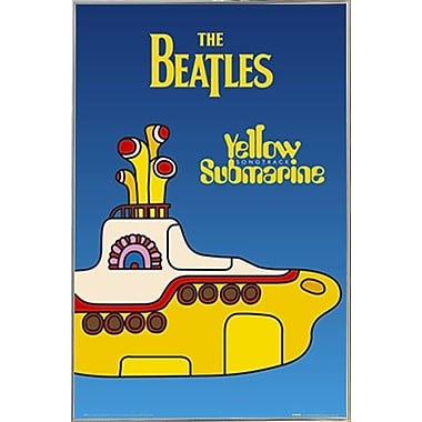 East Urban Home 'The Beatles Yellow Submarine Cover' Rectangle Framed Graphic Art Print Poster
