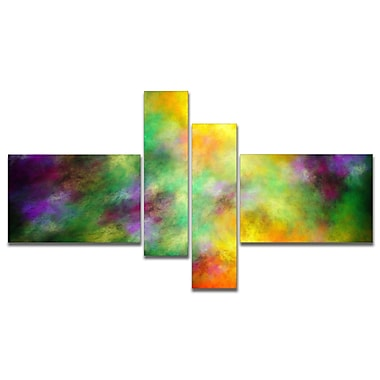 East Urban Home 'Colorful Sky w/ Blur Stars' Graphic Art Print Multi-Piece Image on Canvas