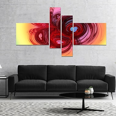 East Urban Home 'Waves Around the Hearts' Graphic Art Print Multi-Piece Image on Canvas