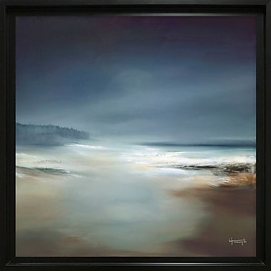Highland Dunes 'Indigo Horizon I' Square Framed Painting Print