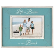 Highland Dunes Albert 'Life Is Better At The Beach' 4'' x 6'' Picture Frame