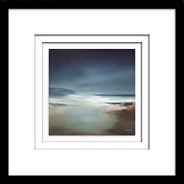 Highland Dunes 'Indigo Horizon I' Framed Painting Print on Paper