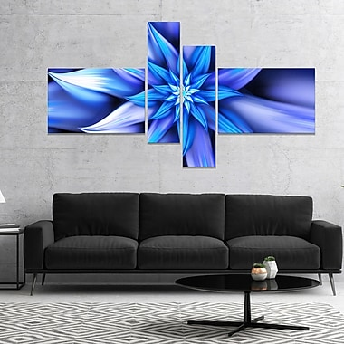 East Urban Home 'Dancing Blue Flower Petals' Graphic Art Print Multi-Piece Image on Canvas
