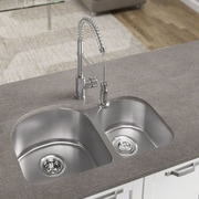 MRDirect Stainless Steel 31'' x 20'' Double Basin Undermount Kitchen Sink