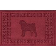 Red Barrel Studio Conway Pug Doormat; Red/Black