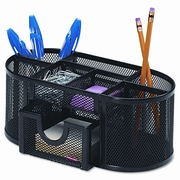 Rebrilliant Rolodex Mesh Pencil Cup Organizer Steel, 4 Compartments