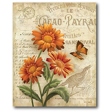 August Grove 'Country Flowers I' Graphic Art on Wrapped Canvas