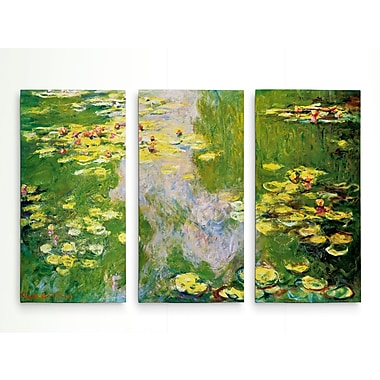Astoria Grand 'Water Lilly' Acrylic Painting Print Multi-Piece Image on Wrapped Canvas