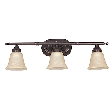 Charlton Home Breese 3-Light Vanity Light; Bright Satin Nickel