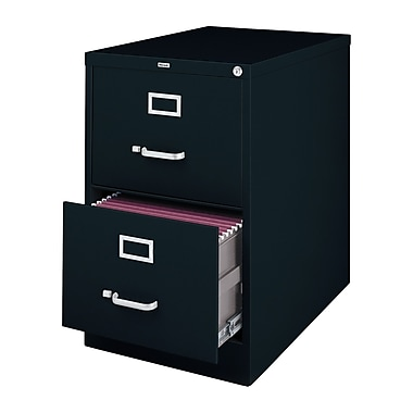 Latitude Run Scalise 2 Drawer Commercial Letter Size File Cabinet; Black