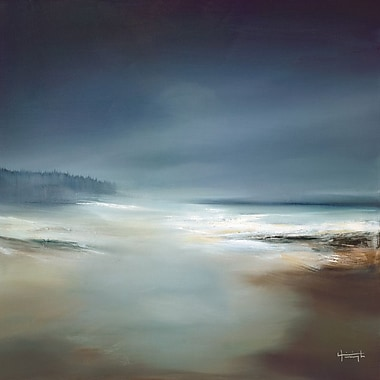 Highland Dunes 'Indigo Horizon I' Painting Print on Wrapped Canvas; 13'' H x 13'' W x 1.375'' D