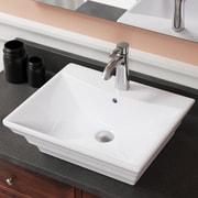 MRDirect Porcelain Square Vessel Bathroom Sink; White