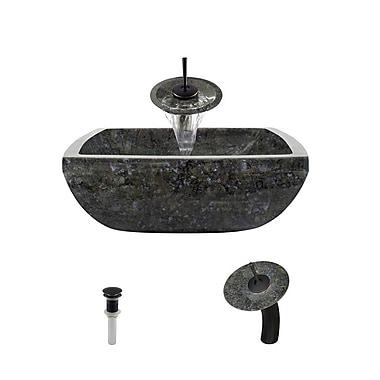 MRDirect Granite Square Vessel Bathroom Sink; Antique Bronze