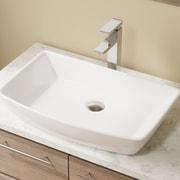 MRDirect Porcelain Rectangular Vessel Bathroom Sink; White