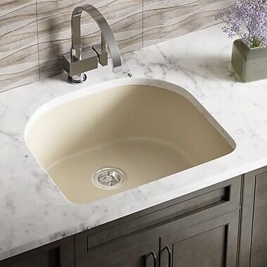 MRDirect Trugranite 25'' x 22'' Undermount Kitchen Sink; Beige