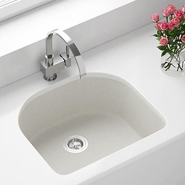 MRDirect Trugranite 25'' x 22'' Undermount Kitchen Sink; White