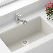 MRDirect Trugranite 33'' x 18'' Undermount Kitchen Sink w/ Drain; White