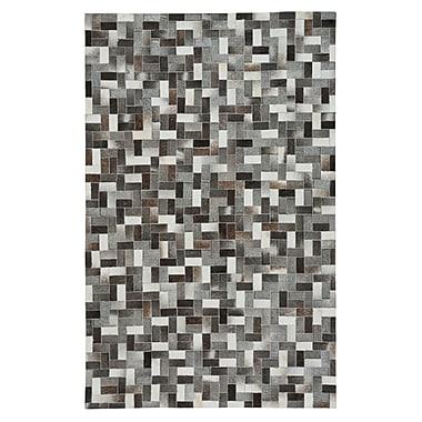 17 Stories Ramanna Black/Gray Area Rug; 5' x 8'
