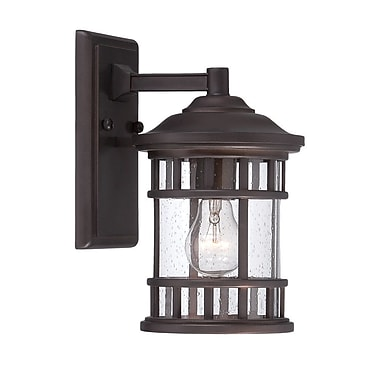 Darby Home Co Ferryhill Contemporary 1-Light Outdoor Wall Lantern; Architectural Bronze