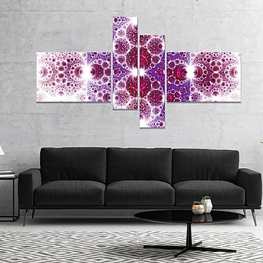 East Urban Home 'Exotic Pink Fractal Crescent Pattern' Graphic Art Print Multi-Piece Image on Canvas