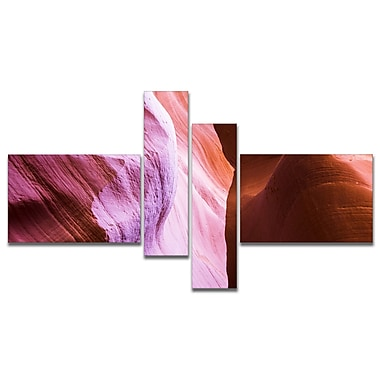 East Urban Home 'Purple Shade in Antelope Canyon' Photographic Print Multi-Piece Image on Canvas