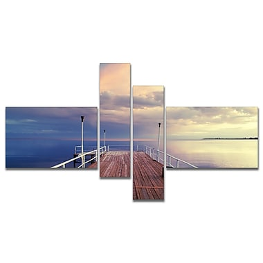 East Urban Home 'Pier Under Bright Sky' Photographic Print Multi-Piece Image on Canvas