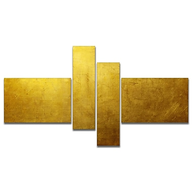 East Urban Home 'Gold Texture' Graphic Art Print Multi-Piece Image on Canvas