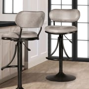 Ivy Bronx Bodden Adjustable Swivel Bar Stool; Black