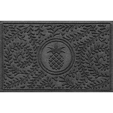 Red Barrel Studio Conway Boxwood Pineapple Doormat; Charcoal