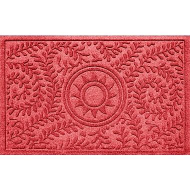 Red Barrel Studio Conway Boxwood Sun Doormat; Solid Red