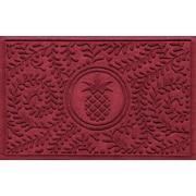 Red Barrel Studio Conway Boxwood Pineapple Doormat; Red/Black