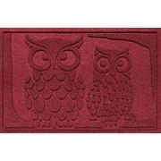 Red Barrel Studio Conway Owls Doormat; Red/Black