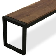 17 Stories Sierra Wood Bench; Solid Walnut