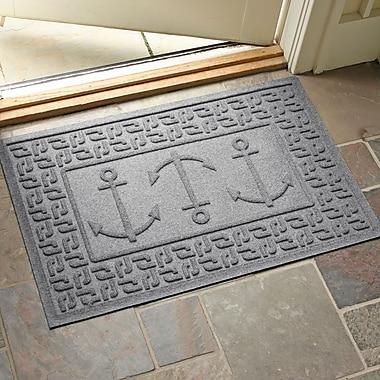 Red Barrel Studio Conway Ahoy! Doormat; Medium Gray