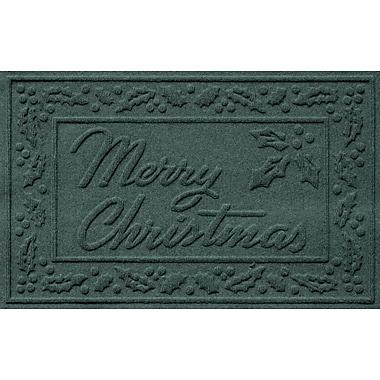 Red Barrel Studio Conway Merry Christmas Doormat; Evergreen