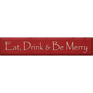 Winston Porter Eat, Drink, & Be Merry Textual Art Plaque