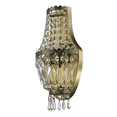Astoria Grand Weisser 3-Light Antique Bronze Clear Crystal Wall Sconce