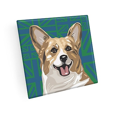 East Urban Home Corgi Coaster (Set of 4)