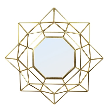 Everly Quinn Aina Hex Accent Mirror