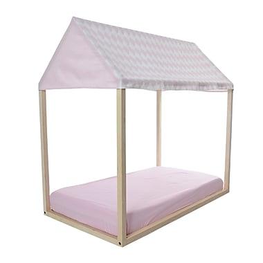 KidiComfort Full Coverage Rhombus & Solid Play House; Soft Pink